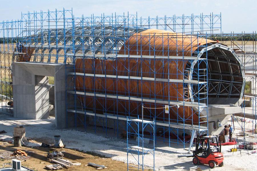 struttura per galleria del vento
