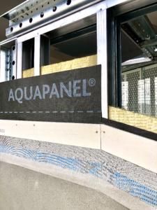 Particolare pannello Aquapanel Knauf | Scaffsystem